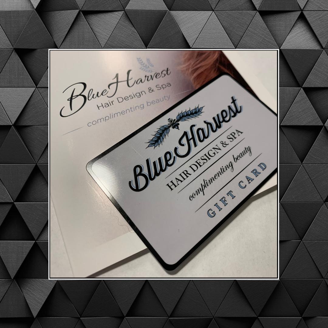 gift card, Simcoe, Ontario | Blue Harvest Salon & Spa